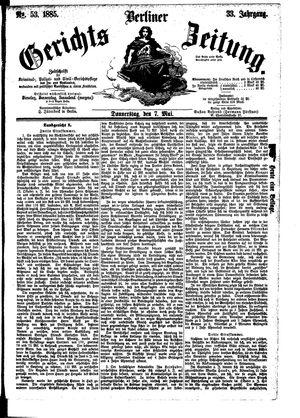 Berliner Gerichts-Zeitung vom 07.05.1885