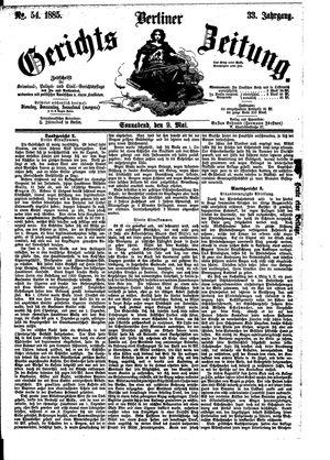 Berliner Gerichts-Zeitung vom 09.05.1885