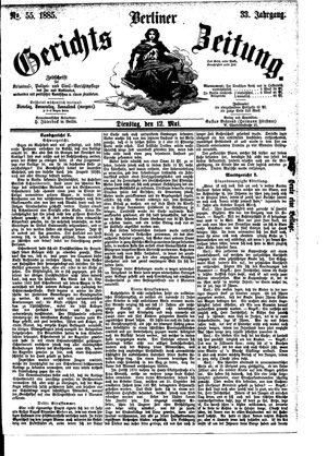 Berliner Gerichts-Zeitung vom 12.05.1885