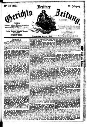 Berliner Gerichts-Zeitung vom 14.05.1885