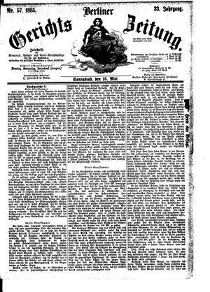 Berliner Gerichts-Zeitung vom 16.05.1885