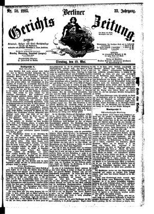 Berliner Gerichts-Zeitung vom 19.05.1885