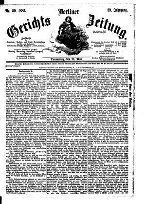 Berliner Gerichts-Zeitung vom 21.05.1885