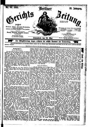 Berliner Gerichts-Zeitung vom 23.05.1885