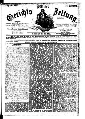 Berliner Gerichts-Zeitung vom 30.05.1885