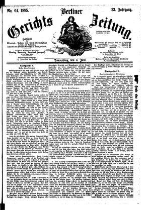 Berliner Gerichts-Zeitung vom 04.06.1885