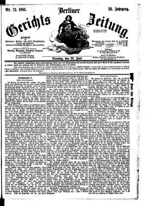 Berliner Gerichts-Zeitung vom 23.06.1885