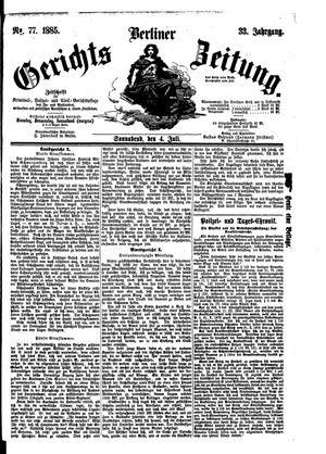 Berliner Gerichts-Zeitung vom 04.07.1885