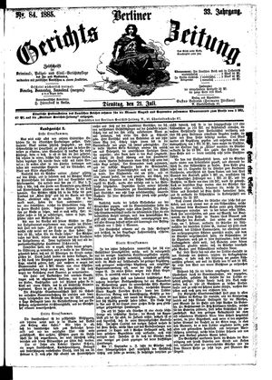 Berliner Gerichts-Zeitung vom 21.07.1885