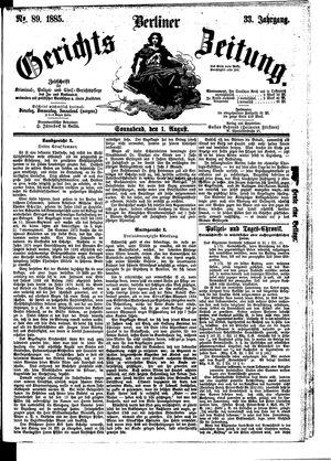 Berliner Gerichts-Zeitung vom 01.08.1885
