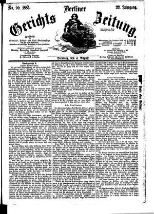 Berliner Gerichts-Zeitung vom 04.08.1885