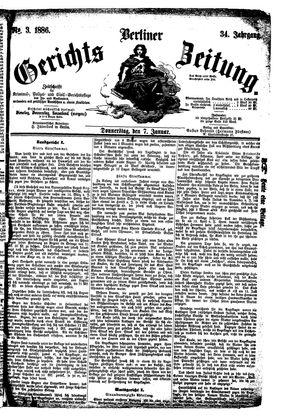 Berliner Gerichts-Zeitung vom 07.01.1886