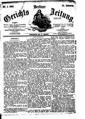 Berliner Gerichts-Zeitung vom 09.01.1886
