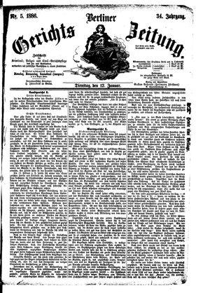 Berliner Gerichts-Zeitung vom 12.01.1886
