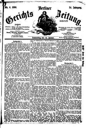 Berliner Gerichts-Zeitung vom 14.01.1886