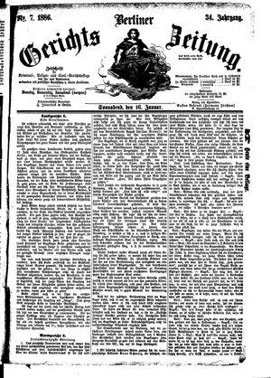 Berliner Gerichts-Zeitung vom 16.01.1886