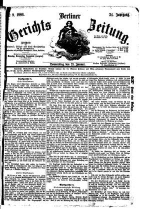 Berliner Gerichts-Zeitung vom 21.01.1886