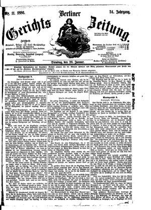 Berliner Gerichts-Zeitung vom 26.01.1886
