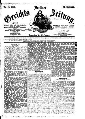 Berliner Gerichts-Zeitung vom 28.01.1886