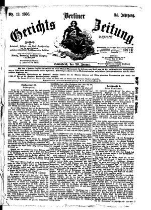 Berliner Gerichts-Zeitung vom 30.01.1886