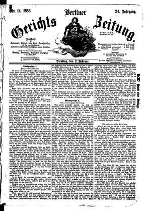 Berliner Gerichts-Zeitung on Feb 2, 1886