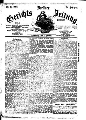 Berliner Gerichts-Zeitung vom 04.02.1886