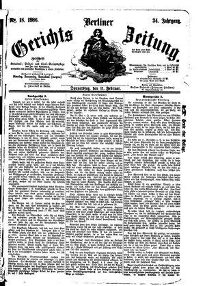 Berliner Gerichts-Zeitung on Feb 11, 1886