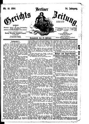 Berliner Gerichts-Zeitung vom 13.02.1886