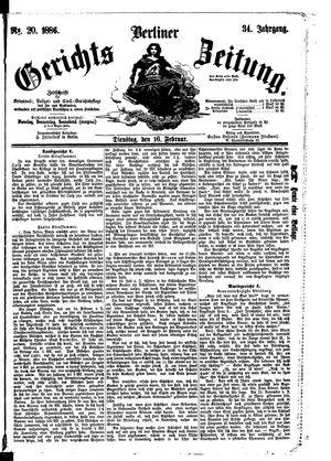 Berliner Gerichts-Zeitung vom 16.02.1886