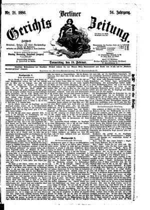 Berliner Gerichts-Zeitung vom 18.02.1886