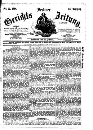 Berliner Gerichts-Zeitung vom 20.02.1886