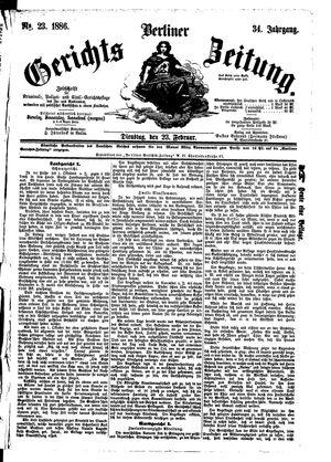 Berliner Gerichts-Zeitung vom 23.02.1886