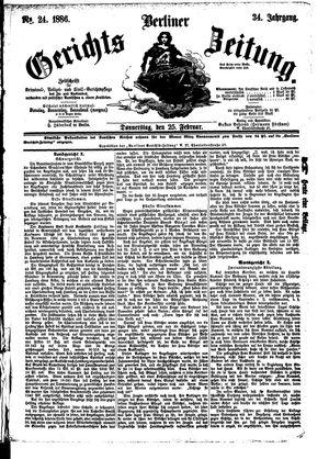 Berliner Gerichts-Zeitung vom 25.02.1886