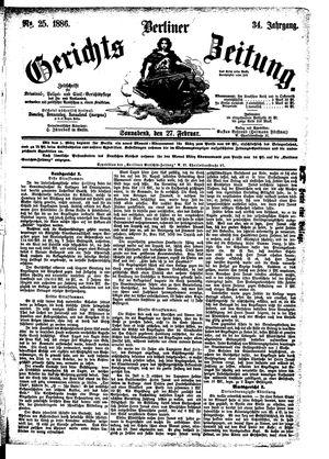 Berliner Gerichts-Zeitung vom 27.02.1886