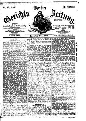 Berliner Gerichts-Zeitung on Mar 4, 1886