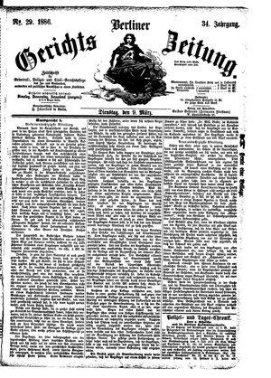 Berliner Gerichts-Zeitung vom 09.03.1886