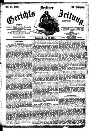 Berliner Gerichts-Zeitung vom 13.03.1886