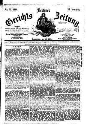 Berliner Gerichts-Zeitung vom 18.03.1886