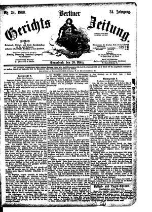 Berliner Gerichts-Zeitung vom 20.03.1886
