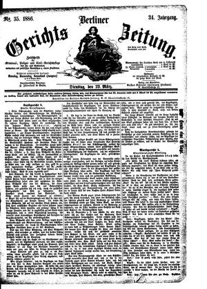 Berliner Gerichts-Zeitung vom 23.03.1886