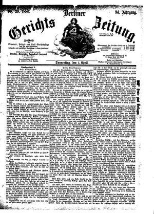 Berliner Gerichts-Zeitung vom 01.04.1886