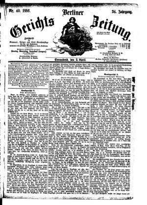 Berliner Gerichts-Zeitung vom 03.04.1886