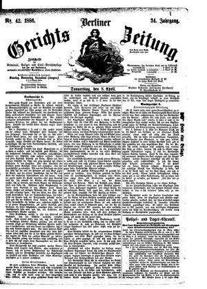 Berliner Gerichts-Zeitung vom 08.04.1886