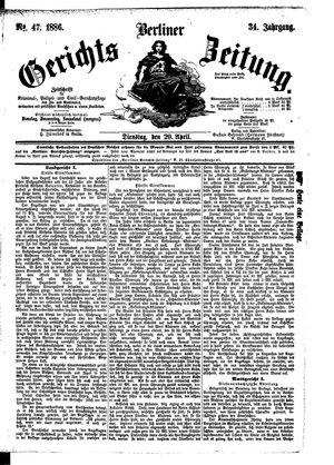 Berliner Gerichts-Zeitung vom 20.04.1886