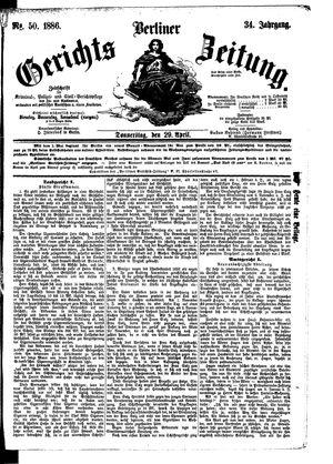 Berliner Gerichts-Zeitung vom 29.04.1886