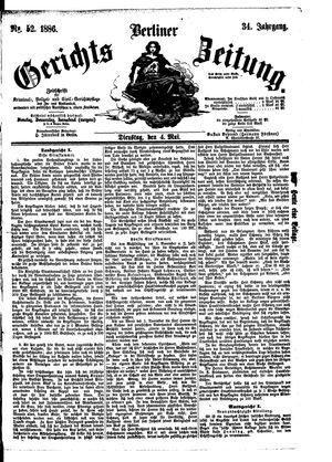 Berliner Gerichts-Zeitung vom 04.05.1886