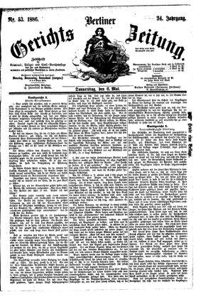 Berliner Gerichts-Zeitung vom 06.05.1886