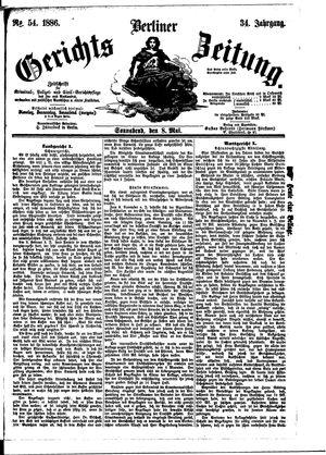 Berliner Gerichts-Zeitung vom 08.05.1886