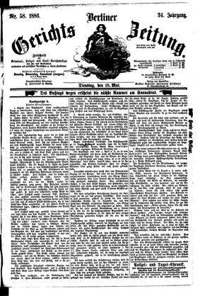 Berliner Gerichts-Zeitung vom 18.05.1886