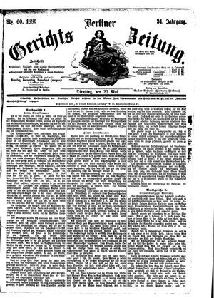 Berliner Gerichts-Zeitung vom 25.05.1886